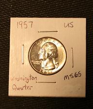 1957 Washington Quarter 25 Cents Silver MS Mint State