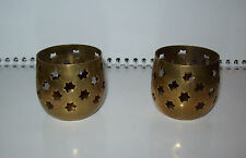 Set 2 pcs Vintage India INCENSE BURNER STAND / CANDLE HOLDER  Material - Brass