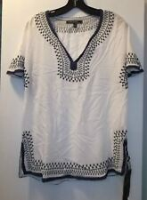 LOVE STITCH EMBROIDERED PEASANT BLOUSE SHIRT MISSES SMALL NWT$109