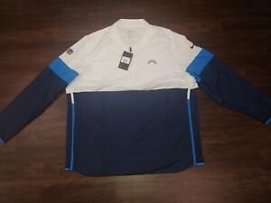 Nike SZ Large & 2XL NFL Los Angeles Chargers On Field  1/2 Jacket Pullover