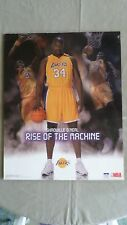 "155D Vtg Shaquille O'Neal Poster NBA  2003 ""Rise of the Machine"" 16x20 EXC!!"