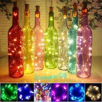 20 LED Kork Geformt LED Nacht Sternenlicht Weinflasche Lampe für Xmas Party Deco