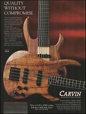 Carvin Exotic Wood Series Guitar and Bass ad 8 x 11 advertisement print