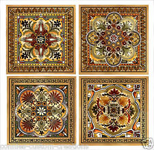 "Italian Renaissance Artistic Backsplash Decorative Ceramic Accent Tiles 6"" New"