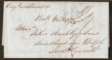 1185 CHILE TO GB UK STAMPLESS FOLDED LETTER 1854 VALPARAISO - BROADHEAD
