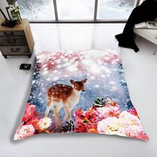 Magical Deer Beautiful Mink Faux Fur Throw Double Bed Size 150cm x 200cm