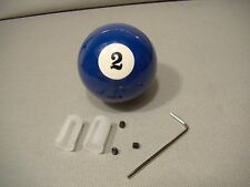 vintage style number two pool ball shifter lever knob covers blue 2 ball