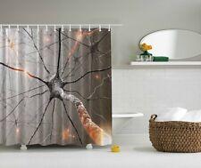 Neuron Digital Print Shower Curtain Nervous System Human Body Bath Curtain