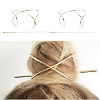 Women Barrette Pin Hair Accessories Bun Holder Hairpin Long Hair Slide Clip