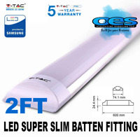 V-TAC LED 2FT 20W STRIPLIGHT BATTEN FITTING LIGHT TUBE SLIM WHITE 6400K VTAC