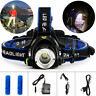 9000LM XML T6 LED Headlamp Headlight Adjustable Focus 18650 ZOOM Head Light Lamp