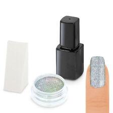 Galaxy Holographic Pigment Puder STARTER SET Laser Chrome Glitter Mirror Nail UV