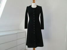 VINTAGE 60s MARY QUANT GINGER LABEL WOMEN'S BLACK WOOL DRESS / COAT SIZE X SMALL