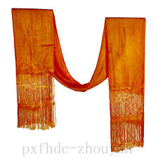 "120"" TOP QUALITY TBETAN SILK BLESSED HADA SCARF: 8 AUSPICIOUS SIGNS EMBORIDERY"