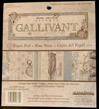 "Creative Imaginations Gallivant Vintage Travel Paper Pad 6x6.75 6"" NEW"