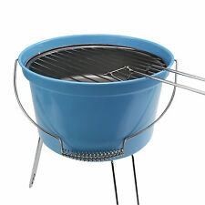 Portatile leggera da Campeggio Carbone Secchio Grill Barbecue Picnic Barbecue Blu