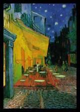 Vincent van Gogh Cafe at Night Poster Kunstdruck im Alu Rahmen schwarz 80x60cm