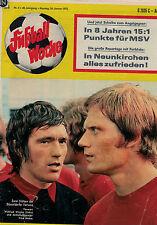 Fußball Woche 4/1972,Bundesliga,BORUSSIA NEUNKIRCHEN POSTER,Hesse/Woyke,