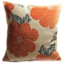 Wb06Aa Orange Daisy Flower Chenille Throw Cushion Cover/Pillow Case*Custom Size