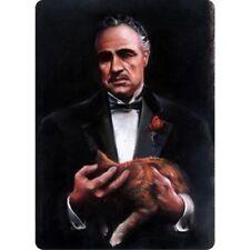 the Godfather with Cat / Marlon Brando 8x12 metal sign