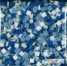 MOSAICO -Tessere mosaico pasta vetro 1x1 cm- 200 g/300 pz - Misto blu