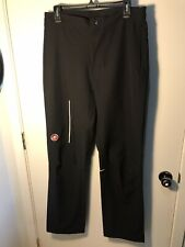 Castelli Race Day Casual Warm Up Pants Men's Large Black Shell Bike Road Team