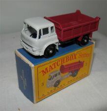 1960s.LESNEY.MATCHBOX.3 Bedford Tipper Truck.Mint in  box.Original