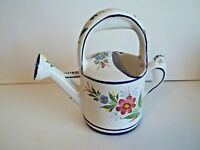 Ceramic Handpainted Watering Can Made in Portugal Expressly for R.H. Macy & Co.