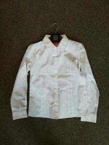 NEW Girls White Long Sleeve School *Pack*  Shirt  BHS  Blouse Age 4 6 7 8 Years