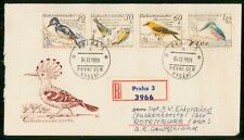 Mayfairstamps Czechoslovakia FDC 1959 Birds Combo Registered Prague First Day Co