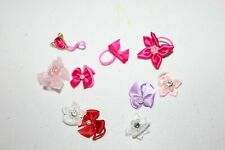 Littlest Pet Shop HAIR BOW ACCESSORY 10 BOWS FOR ANIMALS PINK BLUE WHITE LOT LPS
