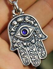 Hamsa Hand Keychain Jewish Symbols Charm Amulet, Kabbalah & Evil Eye Protection