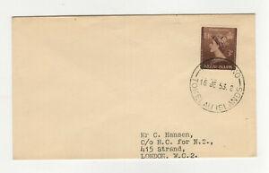 Tokelau Islands 1953 oblit. Nukunono timbre sur lettre /L4858
