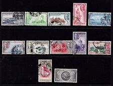 Barbados 1950 Definitives Set of 12 Used