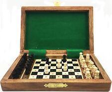 """Rectángulo Plegable Magnético viajes de ajedrez de madera de juego de tablero regalo familia 4"""" X 6"""""""