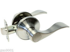 Passage Satin Nickel Lever Handle Door Lock Knob closet hallway Brushed 838DC