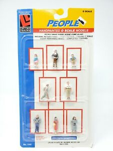 Life-Like O Scale Accessories People 8 Handpainted Figures NEW