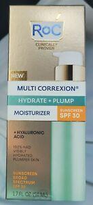 RoC Multi Correxion Hydrate + Plump Daily Moisturizer 1.7oz SPF 30 New/Sealed!!!