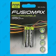 Baterías NiMH AAA Recargable fusionmax 2x, HR03, 1.2V, 350mAh ni-mh,