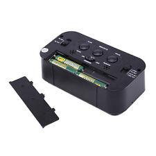 Digital Alarm Wecker Tischuhr LCD Mit Temperaturanzeige und Kalender 2Farbens DE