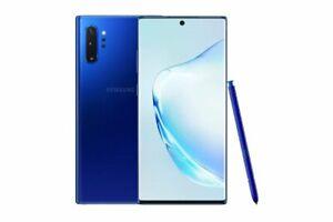 """Samsung Galaxy Note 10+ Plus 5G N976 Blue 6.8"""" 12G/256GB Phone By FedEx"""