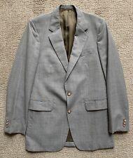 DIAMOND'S Gray/Brown/Blue Plaid Wool Sports Coat/Suit Jacket~40L~EXCELLENT!!
