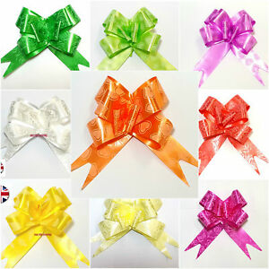 Large 30mm Pull Bows Weddings Party Floristry Wrap Ribbon 10 Colours Fathers Day