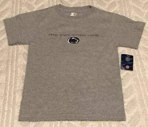 Penn State Nittany Lions Boys Shirt Small 6/7 Starter Gray NWT