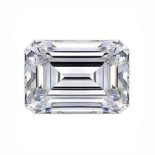 Lovely 7 X 5 MM 0.98 CT Full White Emerald Shape Cut Loose Moissanite 4 Ring