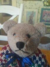 Ooak plush Artist Teddy bear by Priscilla Arkoian of Virginia 9.5 in Euc