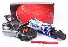 Ferrari Ferrari F12 TDF  Set mit Regenschirm + Kulli  BBR 1:18  Neu  BBR181812TS