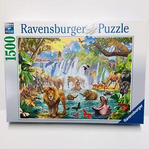 Ravensburger Waterfall Safari 1500 Piece Jigsaw Puzzle Bright Animals New Sealed