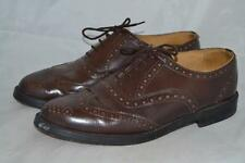 VINTAGE BROWN LEATHER MARLEY OF LONDON BROGUES SHOES UK 9 MADE IN ENGLAND