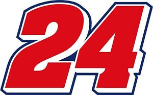 NEW FOR 2018 #24 William Byron Racing Sticker Decal - Sm thru XL - Various color